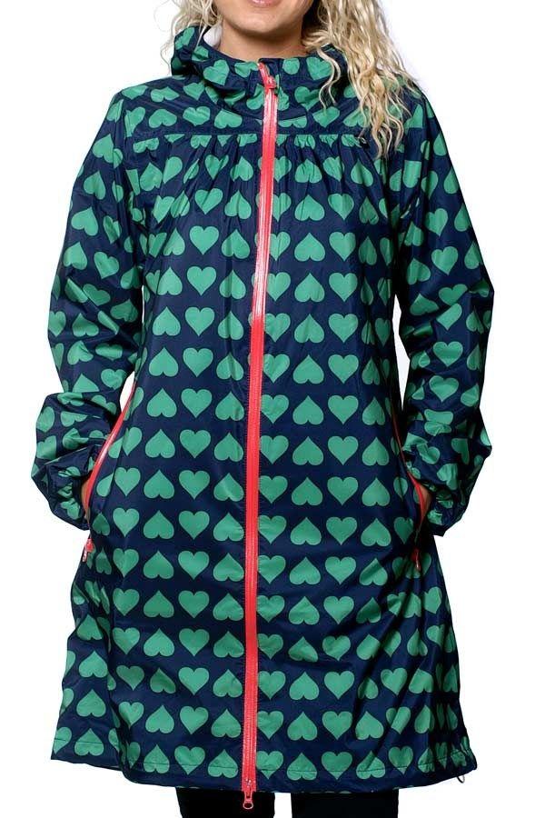 Danefæ - regnfrakk - Helen - Green hearts fra Danefæ