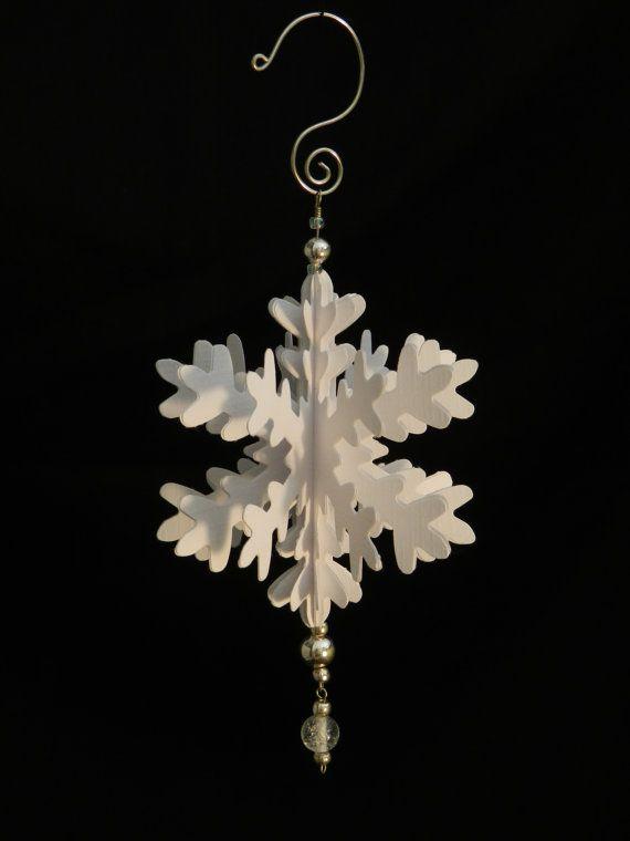 Handgefertigte gefaltetes Papier Schneeflocke Ornament