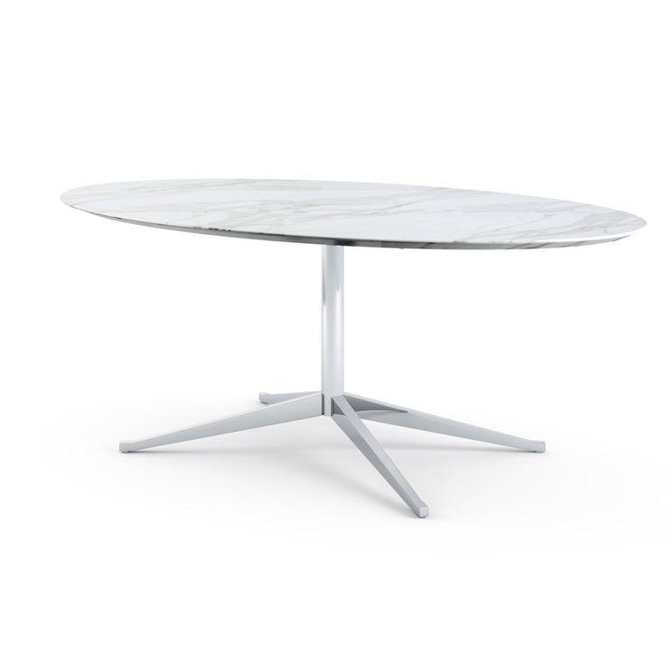 Florence Knoll Table Desk - Oval | Knoll 78x47.75x28h 6687