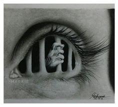 creepy eyeball pencil sketch - Google Search