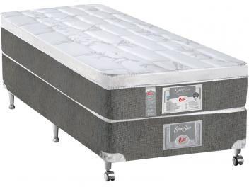 Cama Box Solteiro (Box + Colchão) Castor Molas - Ensacadas/Pocket 50cm de Altura Silver Star