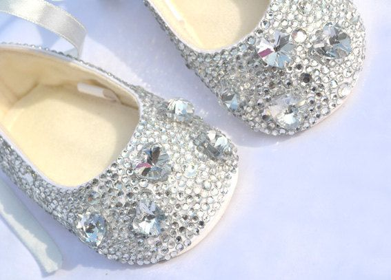 crystal baby shoes. www.etsy.com/...