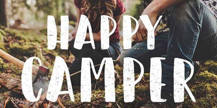 Happy Camper Brush Font