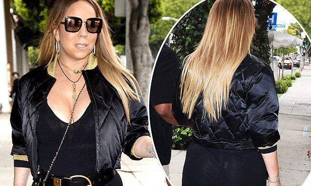 Sizzling Mariah Carey suffers wardrobe malfunction on shopping spree