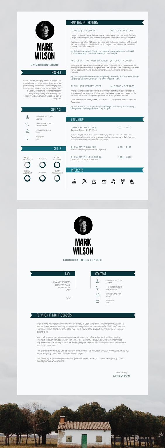 28 Best Cv Template Images On Pinterest Plants Resume Cv And