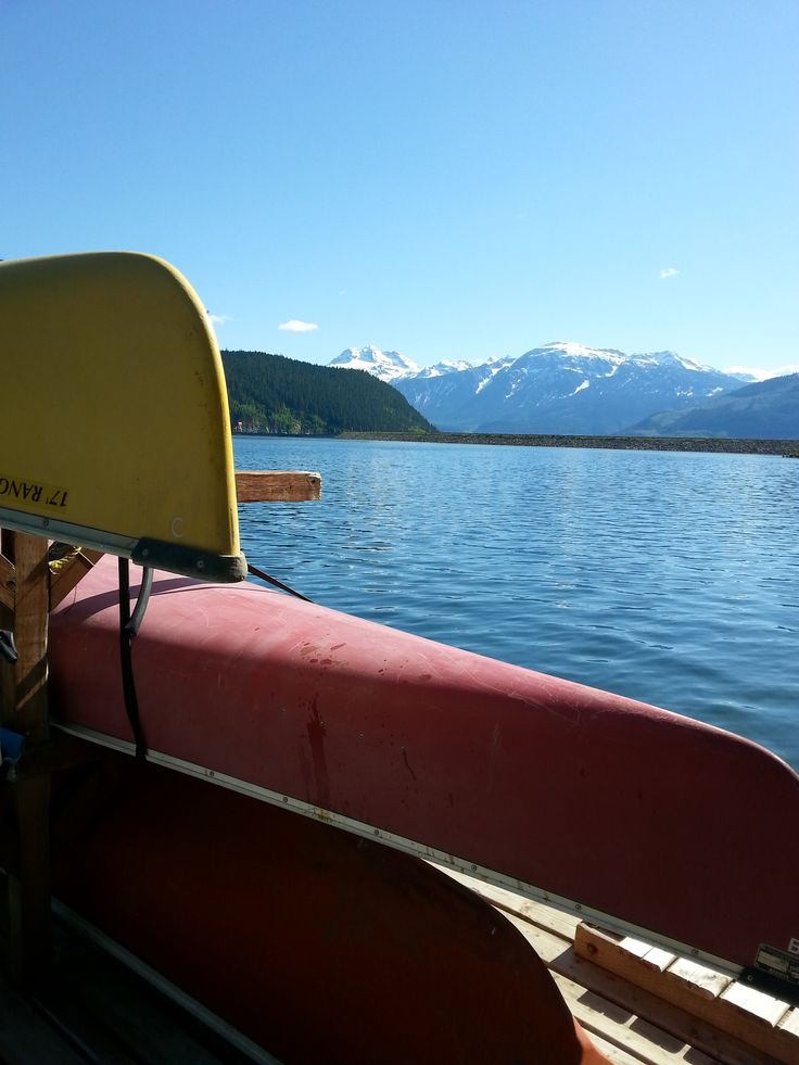 Canoe rental on Lake Revelstoke at Glacier House Resort... explore the cool waters and see otters, beavers, osprey. All you got to do is float and relax!