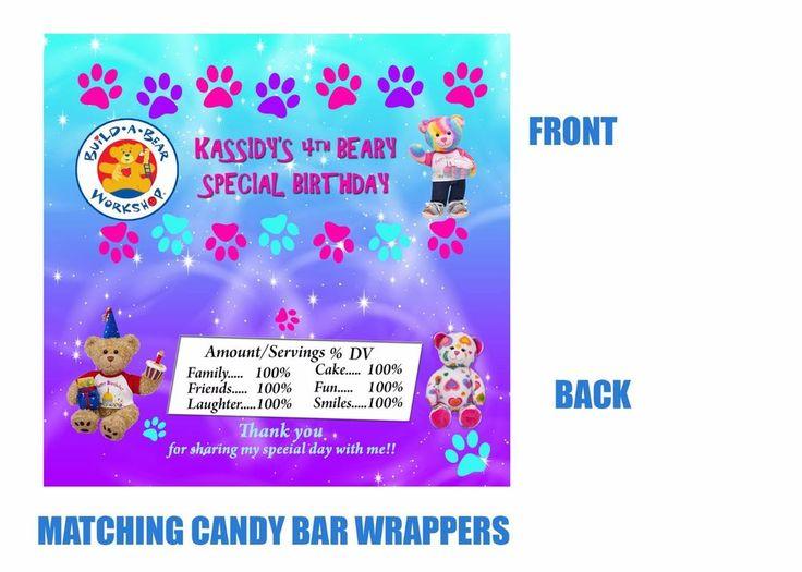 Build-A-Bear Candy bar wrappers, Candy bar wrappers, Build a bear, Bears