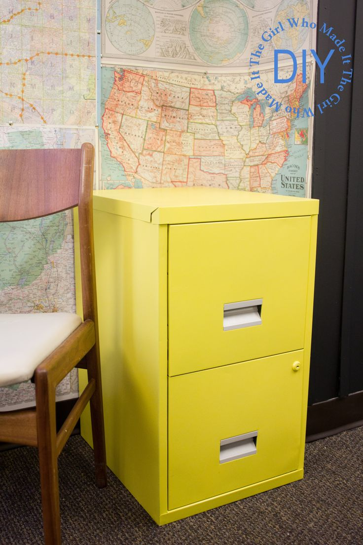 DIY Friday: Painted Filing Cabinet