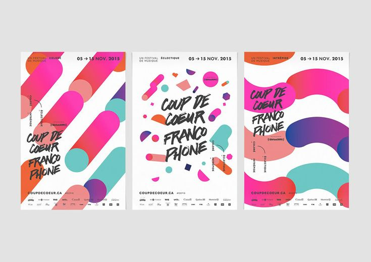 The Visual Design language of Music and Cultural Festivals