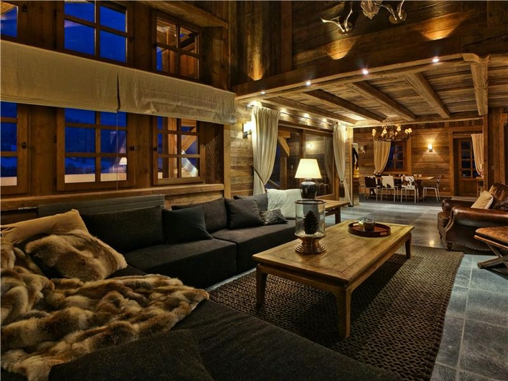 17 best images about chalet chic on pinterest fireplaces for Ville lussuose interni