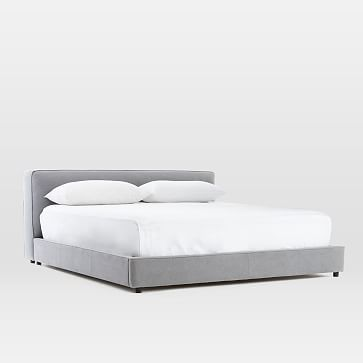Flanged Edge Upholstered Bed #westelm