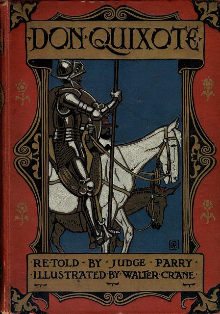 Don Quixote Front Cover, 1900 // Illustrated by Walter Crane