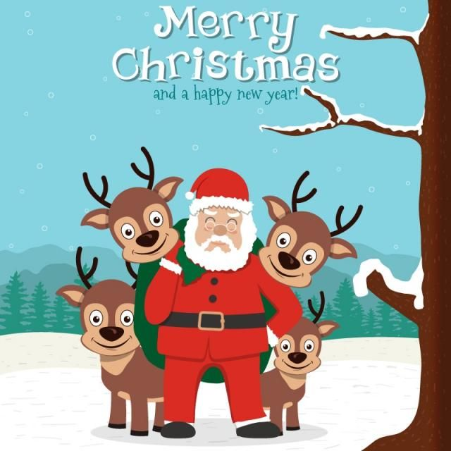 christmas illustration design, Nose, Outstretched, Reindeer PNG and Vector
