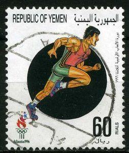 Stamp: Running (Yemen) (Olympic Games) Mi:YE 164,Sn:YE 676