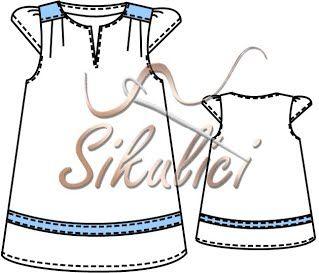 Střih na šaty pro holčičky