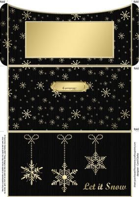 Elegant Let it Snow Money or Gift Wallet and Card on Craftsuprint - Add To Basket!
