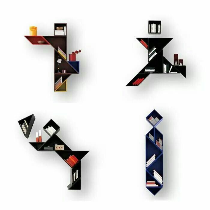 Tangrams Bookshelves