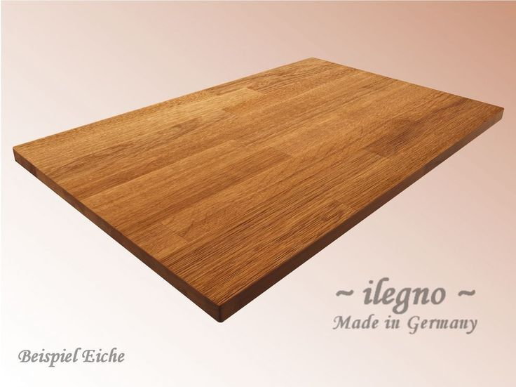 ~ilegno~ Tischplatte Massivholzplatte EICHE 40 mm eckig über 100 Abmessungen