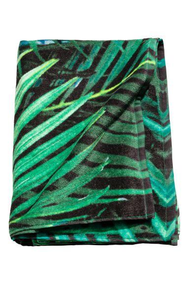 Patterned bath towel - Green/Leaf - Home All | H&M GB