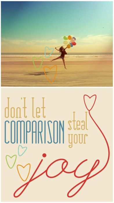 Don't compare...repeat.