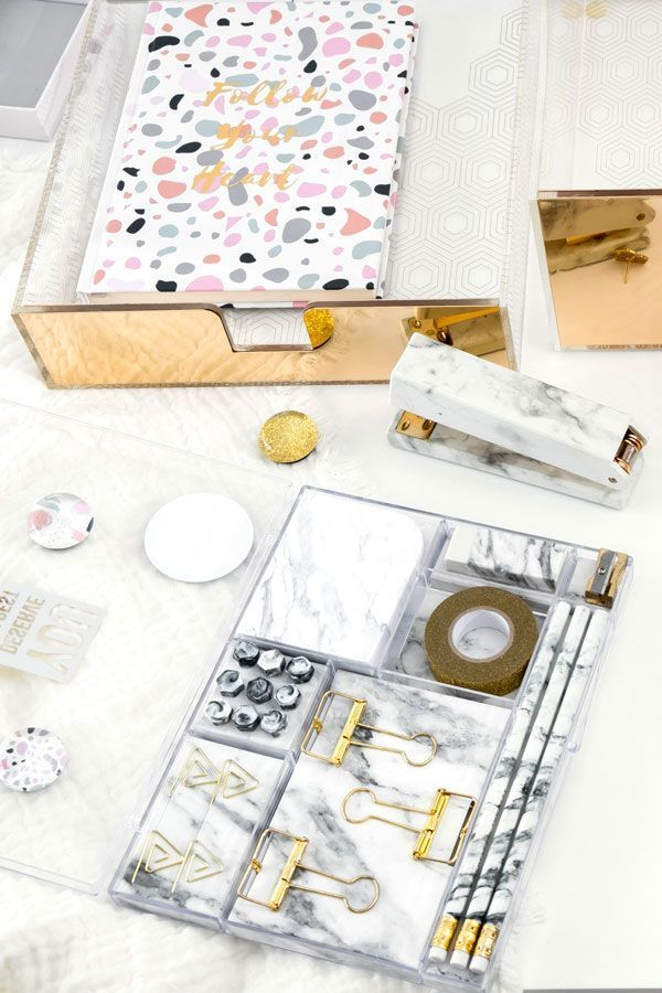 Marble Stationery Set Office Supplies Desk Accessories