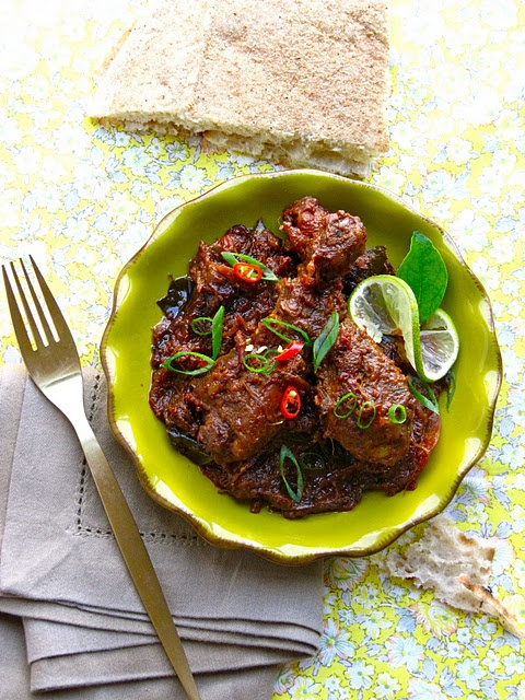 Kerala chicken roast. It's not easy to make Indian food look good!