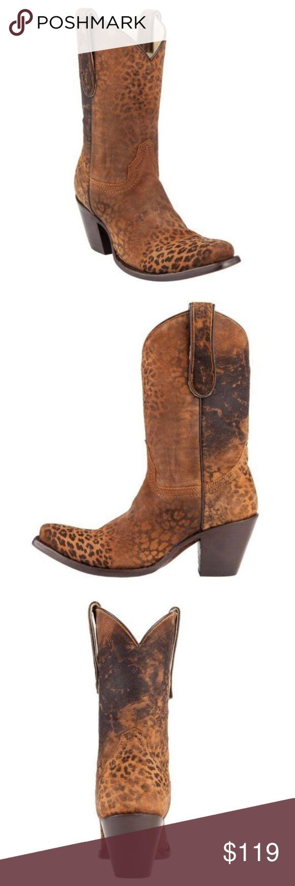 Corral Ladies Brown Cheetah Print Short Top Boot Only worn once for a work event…