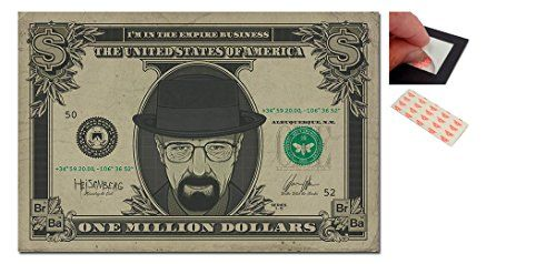 Bundle - 2 Items - Breaking Bad Heisenberg Dollar Poster - 91.5 x 61cms (36 x 24 Inches) and a Set o @ niftywarehouse.com #NiftyWarehouse #BreakingBad #AMC #Show #TV #Shows #Gifts #Merchandise #WalterWhite