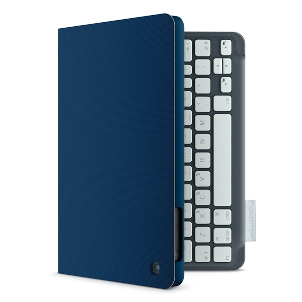 Comfortable typing comes to the iPad® mini in a striking keyboard folio that evokes your personal style. Logitech Keyboard Folio mini in Mystic Blue. ($89.99)