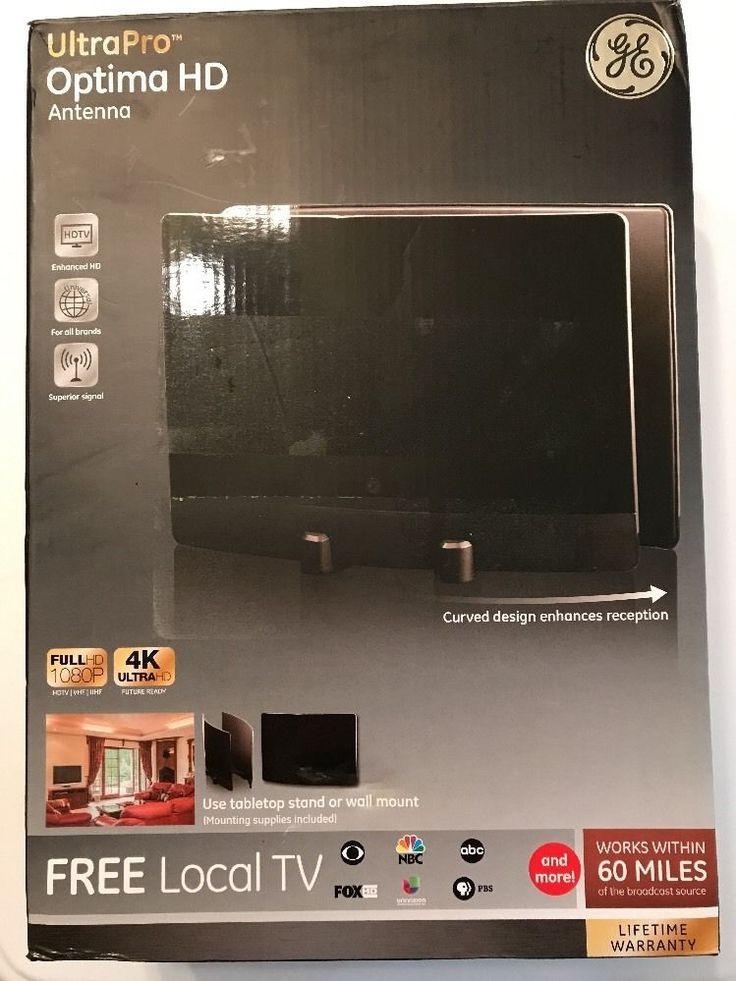 GE Ultra Pro Optima HD Antenna Free Local Tv 60 Miles Broadcast 1080P  | eBay