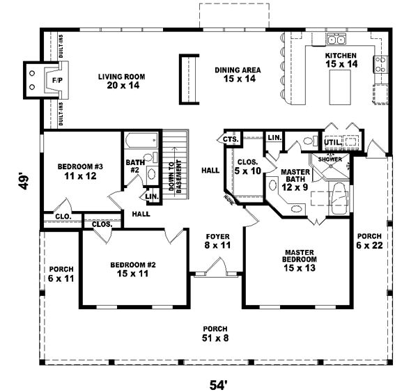 Ranch style floor plans with walkout basement trendy for Ranch house plans with walkout basement