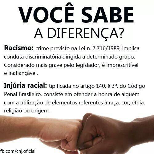 racismo - injúria racial