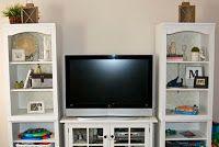 Love this new DIY blog! IKEA redo. Cottage White entertainment center.