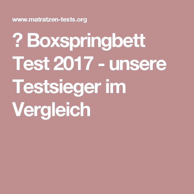 ▷ Boxspringbett Test 2017 - unsere Testsieger im Vergleich