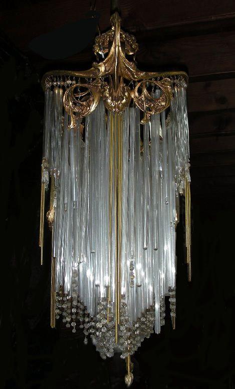 Chandelier art nouveau - Gardners Antiques