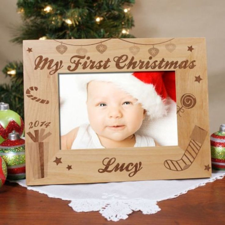 The 25 best engraved picture frames ideas on pinterest wood personalized my first christmas engraved picture frame gifts happen here negle Image collections