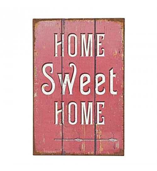 METAL WALL PAINTING  ' HOME SWEET HOME' 20Χ30