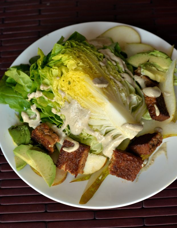 Butter Lettuce Wedge Salad with Creamy Peppercorn Dressing + Crave Eat Heal Cookbook Giveaway via The Taste Space.