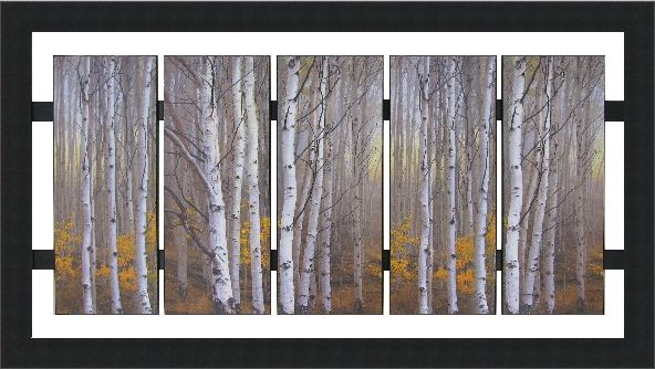 5 Panel Birch Trees | Custom Design | Wall Decor #FramedArt #Art #WallDecor #Decor #HomeDecor #Picture #Trees #Birch