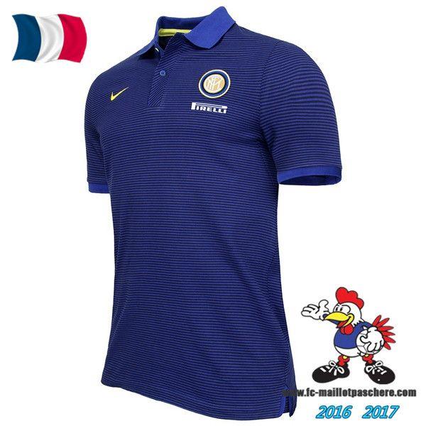 Promo Polo De Foot Inter Milan Bleu 2016/2017 Pas Cher