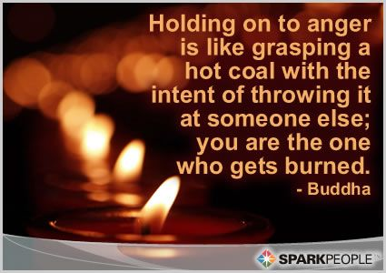 """Holding onto Anger"" Motivational Quote of the Day by Buddha"