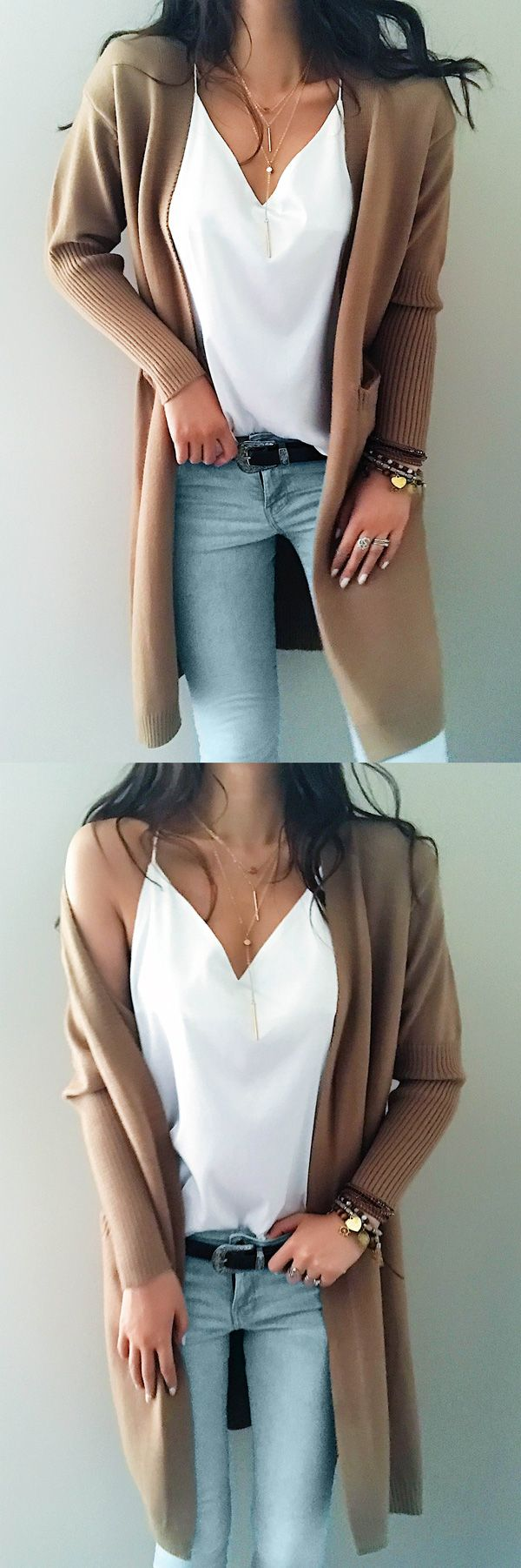 ONLY $44.99! Chicnico Street Casual Knit Solid Color Open Collar Cardigan FALL FASHION 2017 TREND CHEAP ONLINE STORE