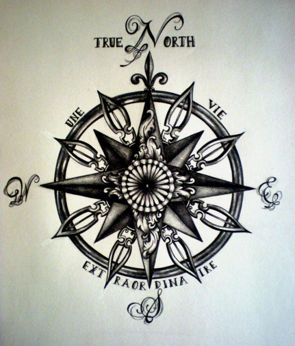 compass tattoo by Whatalifeweareliving