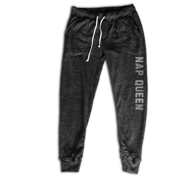 Nap Queen Women's Joggers Women's Activewear Fitness Apparel... (44 AUD) ❤ liked on Polyvore featuring activewear, activewear pants, black, leggings, women's clothing, yoga sweatpants, long sweatpants, jogger sweatpants, sweat pants and yoga activewear