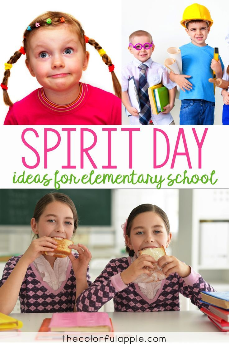 Spirit Days can be a lot of fun in elementary school! This is a great list of ways to mix it up!
