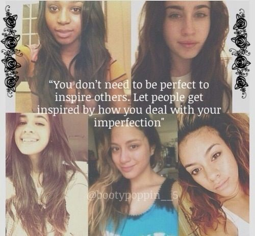 It is soo true <3 Fifth Harmony members without makeup in these pictures...and they're still so freaking beautiful.