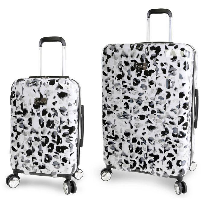 Bebe Abigail Hardside Spinner Luggage In Leopard Spinner Luggage