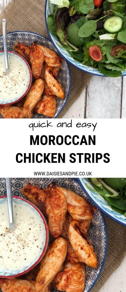Moroccan Chicken Strips With Yogurt Dip Recipe Easy Weeknight