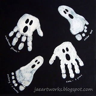 Hand and footprint ghosts