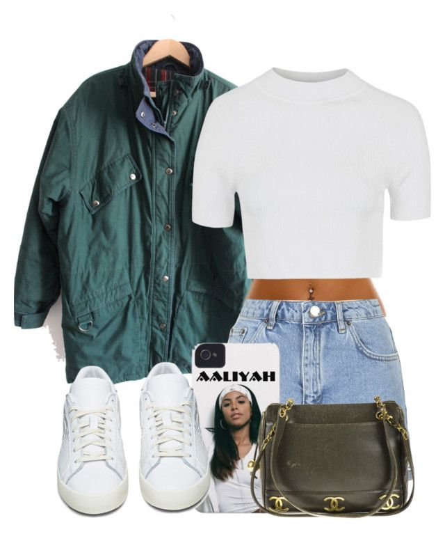 \|<< by platinum-puta on Polyvore featuring polyvore, fashion, style, Topshop, adidas Originals, Chanel and clothing